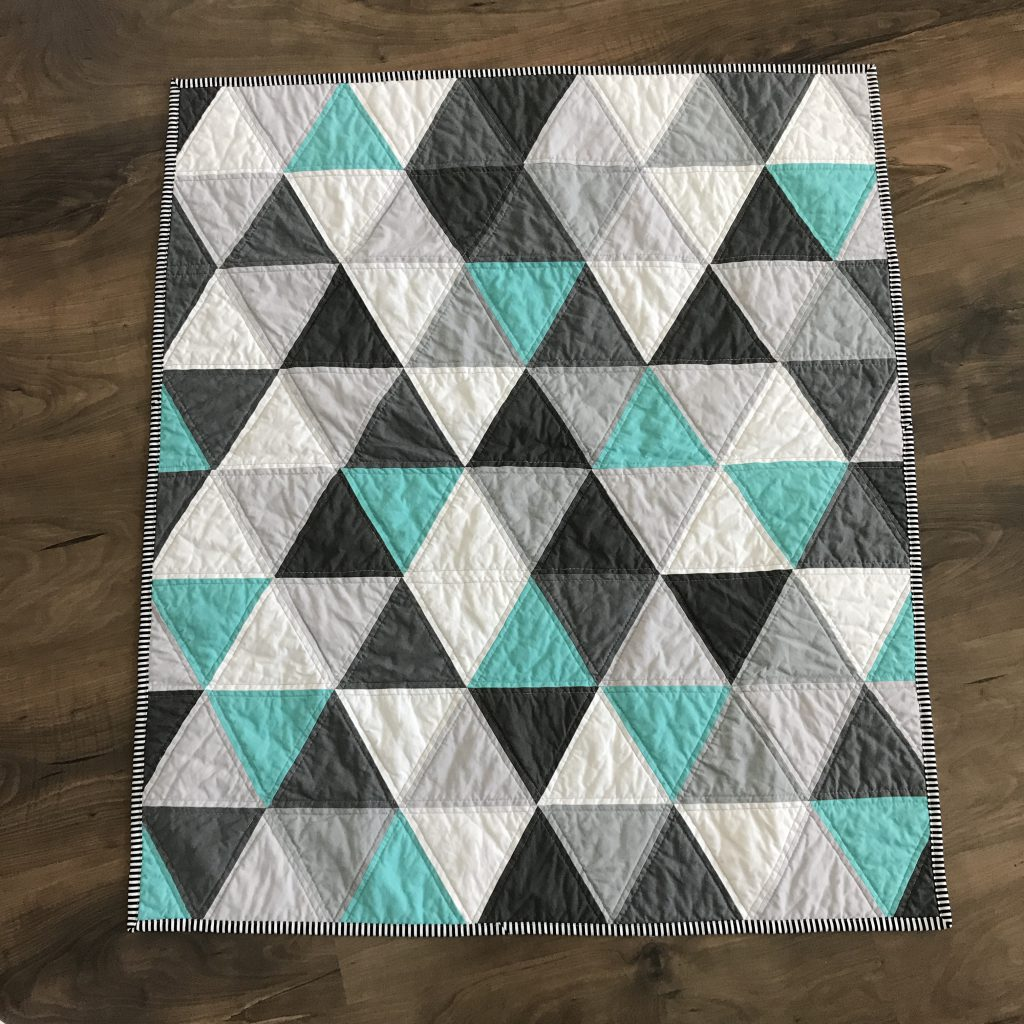 equilateral 60degree triangle baby quilt heritage threads