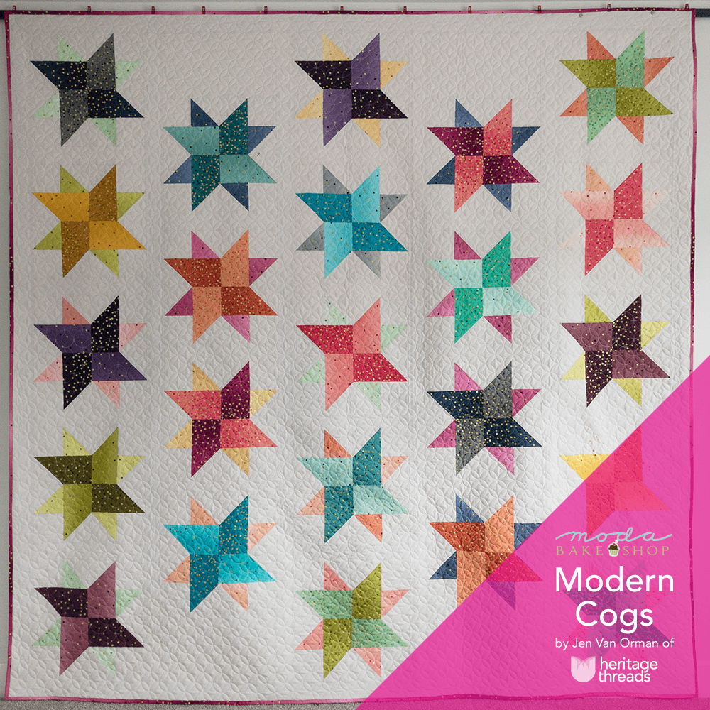 Tutorials heritage threads its been awhile like a year since i made my last quilt pattern for moda bake shop today my latest pattern and tutorial modern cogs went live baditri Choice Image
